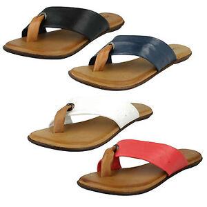 Leather-Collection-para-mujer-de-dedo-Planos-Casual-Sin-Cordones-Verano