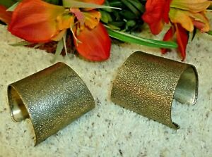 Jewelry Bracelets Lot of 2 Matching Extra Wide Cleopatra Bands Cuff Wrist Style