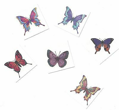 6 LOT ~ DIFFERENT BUTTERFLY temporary Tattoo SMALL SIZE