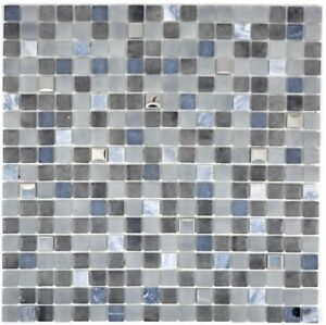 Mosaico-in-vetro-nero-Specchio-Piastrelle-Cucina-Rivestimento-Parete-Bagno-91-0334-10-Tappetini