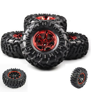 130mm-4Pcs-1-10-Bigfoot-Tires-amp-Wheel-12mm-Hex-For-RC-Monster-Truck-Climbing-Car