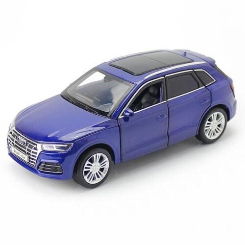 1:32 Audi Q5 SUV Model Car Diecast Toy Vehicle Light Sound Kids Gift Blue Black