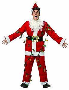 Rasta Imposta Men's National Lampoon's Christmas Vacation Light Up Santa Suit