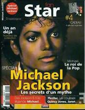MICHAEL JACKSON MAGAZINE COLLECTOR FAN STAR 4 AFFICHES ORIGINALES NEUF
