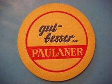 Vintage Beer Bar Coaster ~ Thomasbrau Paulaner Brauerei Pils ~ Munchen, GERMANY