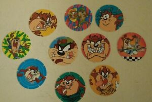 Walkers-Tazos-Looney-Tunes-90s-Kids-Collectables-TAZ-only-Doritos-Set-of-10