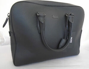 0b8a4401b17e Image is loading HUGO-BOSS-BUSINESS-BAG-MALTON-BLACK-RRP-430-