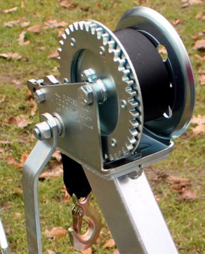 Robuste Stiefelanhänger Gurtwinde für Windenstand Stiefeltrailer Zubehör Stiefelanhänger Robuste bis 600 kg 24253f