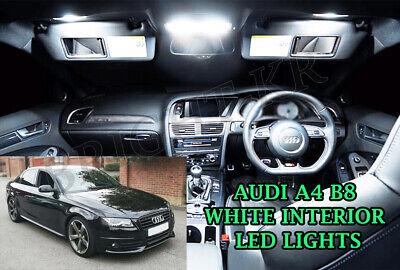 16 Pcs Sets Kit For Audi A4 B8 A5 Interior LED Bulbs XENON WHITE INTERIOR Light