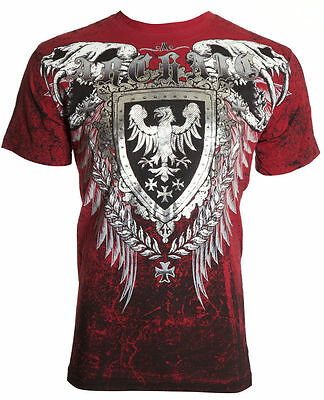 ARCHAIC by AFFLICTION Mens T-Shirt RUSE Skull Vertebrae Motorcycle Biker UFC $40