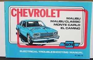 1978 Chevrolet Electrical Wiring Diagram Service Manual ...