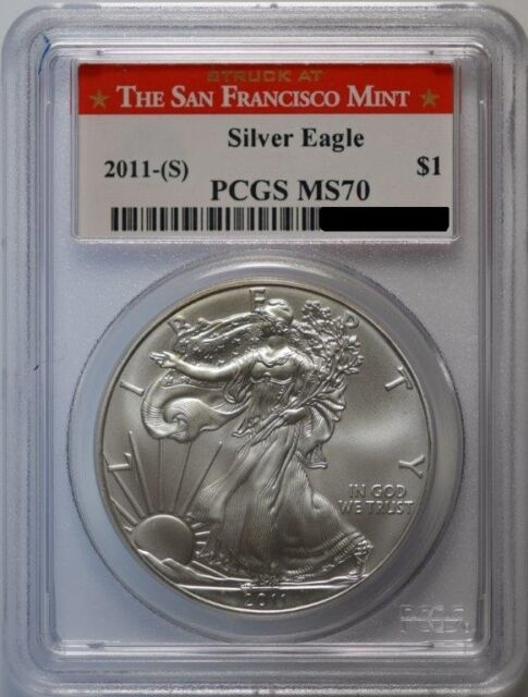 2011-S American Silver Eagle, PCGS MS-70 San Francisco Mint