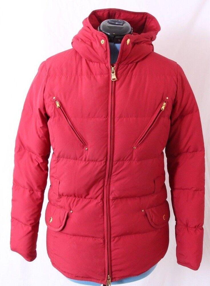 Ralph Lauren Full Zip gold Quilted Down Filled Puffer Winter Coat Women's M