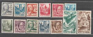 Wurtemberg-Old-Mail-Yvert-1-13-MNH