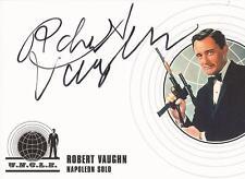 "Man From U.N.C.L.E. (Uncle) - A1 Robert Vaughn ""Napoleon Solo"" Autograph Card"