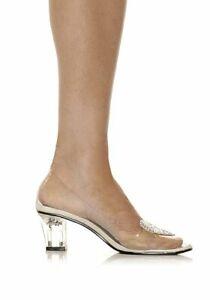 0f27a58dbc3f Ellie Shoes 212-ARIEL Women s 2   Heel Clear Slipper With Silver ...