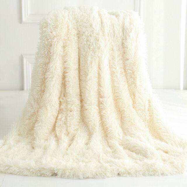 Blanket Faux Fur Long Pile Throw Sofa