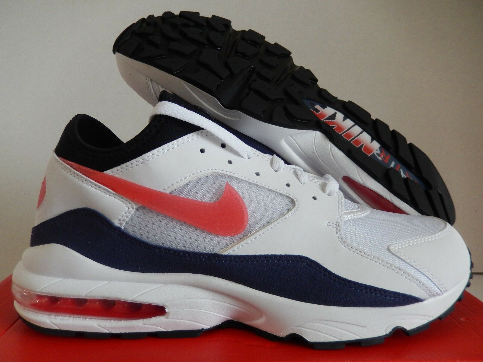 NIKE AIR MAX 93 WHITE-HABANERO RED Price reduction Comfortable and good-looking