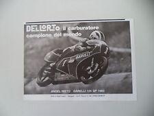 advertising Pubblicità 1984 ANGEL NIETO e GARELLI 125 GP '83