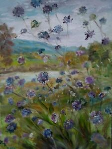 ORIGINAL-SIGNED-IMPRESSIONISM-Scabius-River-Ure-Yorkshire-Dales-OIL-PAINTING
