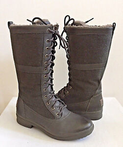 104b3bb8454 Details about UGG ELVIA TALL SLATE WATERPROOF LACE UP BOOT US 11 / EU 42 /  UK 9.5 - NIB