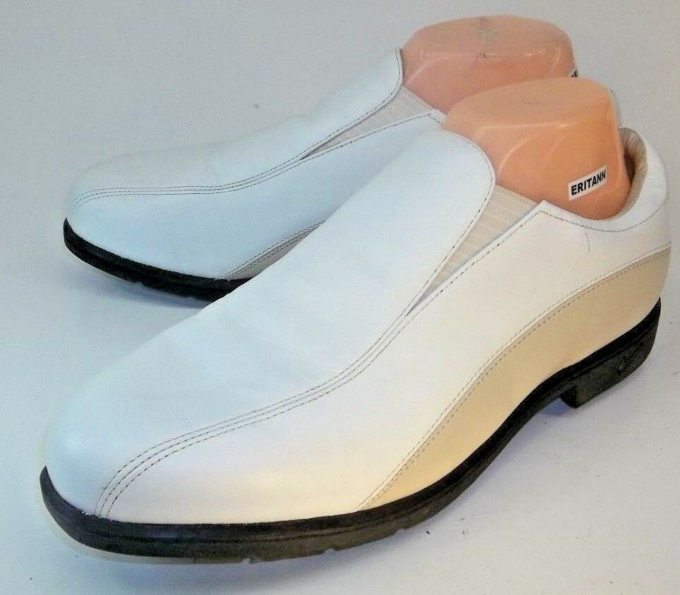 Nike Golf Wos Shoes Loafers VERDANA LAST US 9.5 White Beige Leather Slip-On