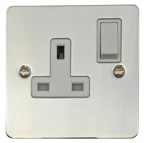 G/&h FC9W Plat Plaque Chrome Poli 1 Gang 13 A Unique commuté Plug Socket