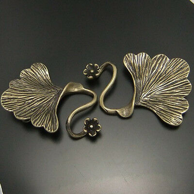 8pcs Antique Style Bronze Tone Brass Fashion Leaf Charm Clasp Finding 04625
