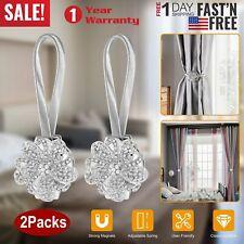 1//3 Pair Magnetic Curtain Tiebacks Crystal Tie Backs Buckle Clip Holdbacks Room
