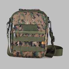 Woodland Digital Camo Shoulder Bag Military Molle Utility Messenger Bag Pouch