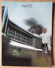 FORD orig 1970 USA Mkt sales brochure - LTD XL Galaxie 500 Custom & Custom 500