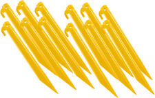 Yellow Plastic Tent Stakes (9 ) 12 Pack  sc 1 st  eBay & Tent Stakes 9 Inch Heavy Duty Plastic 12 Pack-yellow | eBay