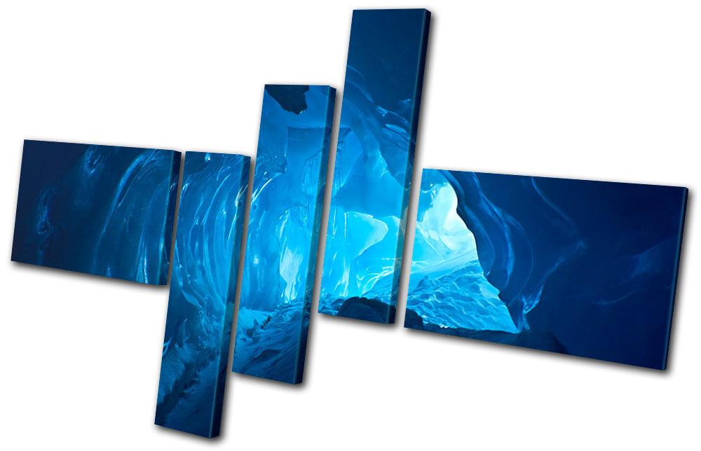 Landscapes Ice Cave Blau MULTI Leinwand Wand Kunst Bild drucken