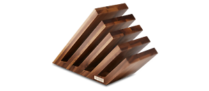 Felix Solingen Magnet-Messerblock Magnet-Messerhalter aus Walnuss für 10 Teile