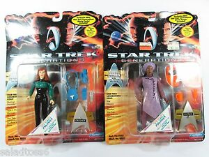 Star Trek GUINAN & BEVERLY CRUSHER Next Generations Playmates Figures