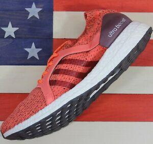 Adidas-UltraBOOST-X-4-0-Maroon-Running-Shoes-Maroon-Orange-BB1694-Women-039-s-11