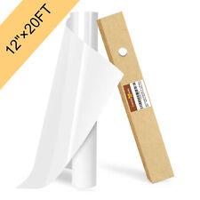Htv Vinyl Roll 12 X 20ft White Heat Transfer Iron On For Diy T Shirt Cricut