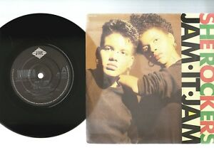 SHE-ROCKERS-JAM-IT-JAM-BLOW-FOR-BLOW-1989-7-034-x45rpm-RECORD-PIC-SLV-near-mint