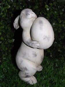 Gartendeko Shabby osterdeko osterhase hase deko polyresin ostern gartendeko shabby 21