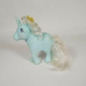 Vtg 1983 My Little Pony SUNBEAM Unicorn G1 80s Glitter Sun Symbol MLP Aqua