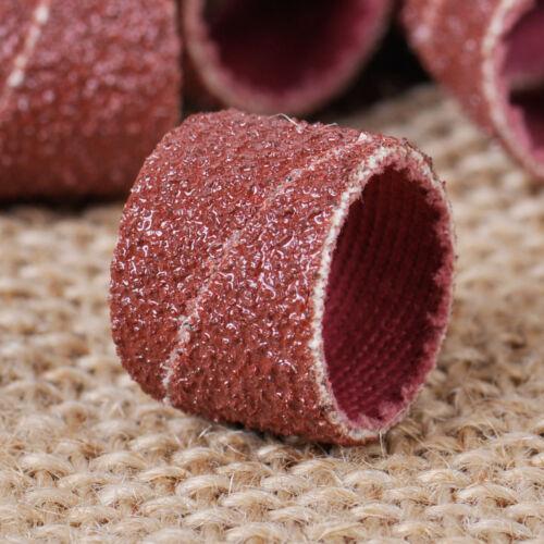 """NEW 100x 80 Grit Sand Bands Sanding Sandpaper Sleeve 1//2/"""" Mandrel for Rotary"""