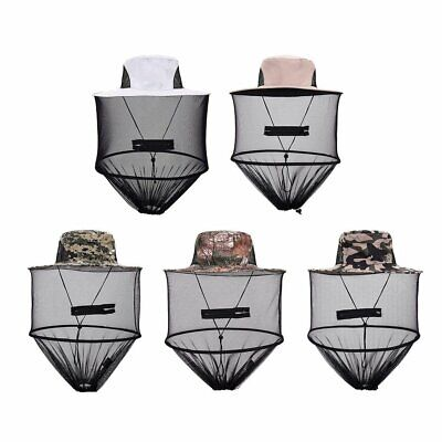 Camouflage Head Face Protector Mesh Net Mask Cap Mosquito Bee Bug Insect Sun Hat