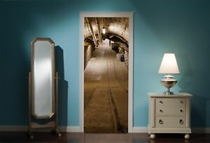 Door-Mural-Underground-Tunnel-View-Wall-Stickers-Decal-Wallpaper-29