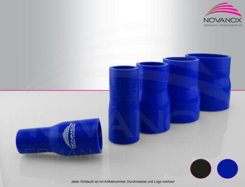 NovaNox® Reduzierstück Ø 80-70mm Blau Silikonschlauch Ladeluftschlauch