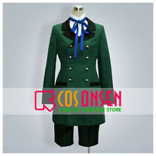 Cosonsen Black Butler Ciel Phantomhive Cosplay Costume Green Color All Size