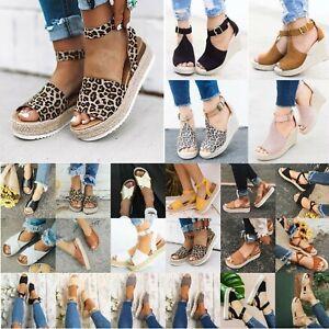 Women-Flat-Wedge-Platform-Sandals-Low-Heels-Peep-Toe-Summer-Espadrilles-Shoes-US