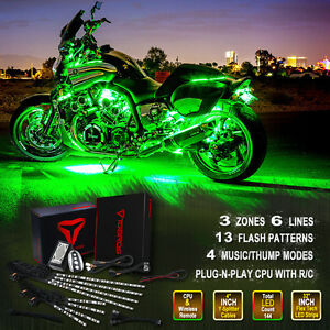 8x sound activated wireless accent strip led light kit motorcycle image is loading 8x sound activated wireless accent strip led light mozeypictures Choice Image