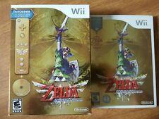 The Legend of Zelda Skyward Sword, Nintendo Wii NEW 1st print + BONUS no wiimote