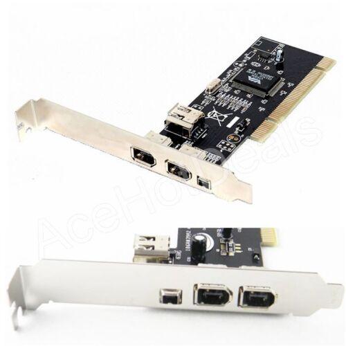 PCI 4 Port Firewire IEEE 1394 1394A 4//6 Pin Controller Card Adapter