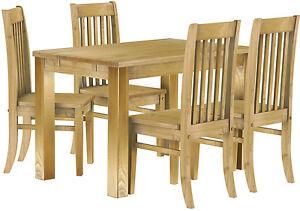Esstisch holz pinie massiv tisch 120 x 80 4 x st hle - Stuhle rustikal ...